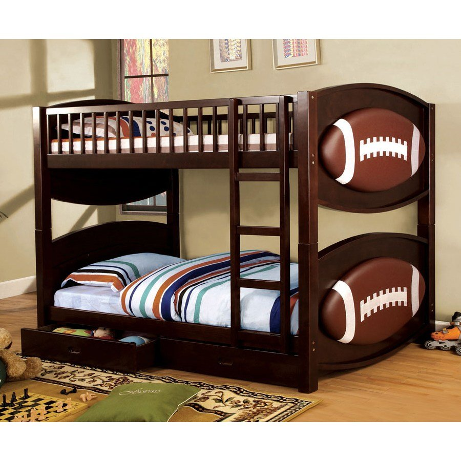Best Furniture Of America Cm Bk065 Fbll T Bed Olympic Football Themed Storage Bunk Bed Atg Stores With Pictures