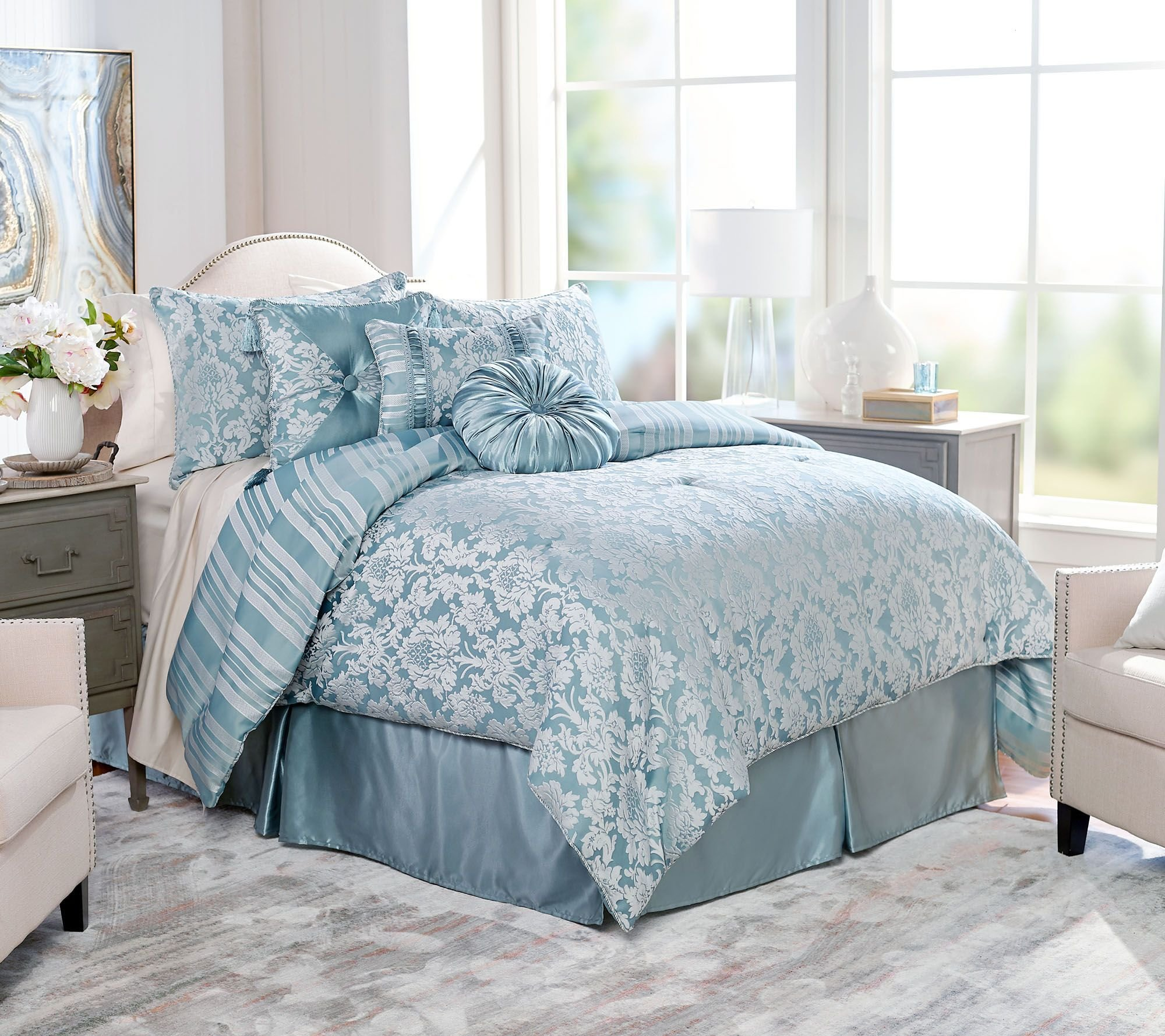 Best Northern Nights Jacquard Reversible 6 Piece Twin Comforter With Pictures