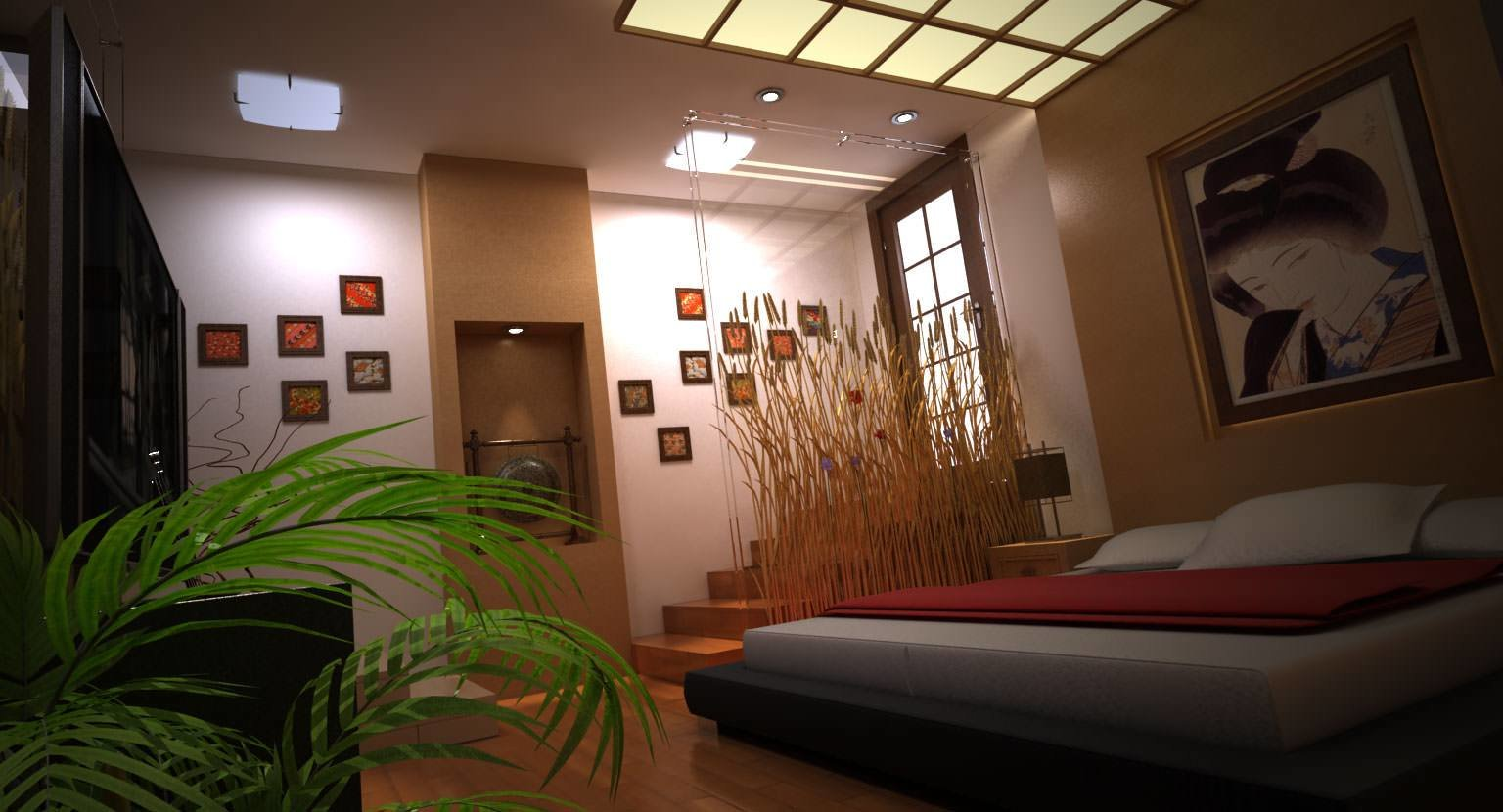 Best Modern Japanese Bedroom 3D Model Max Cgtrader Com With Pictures
