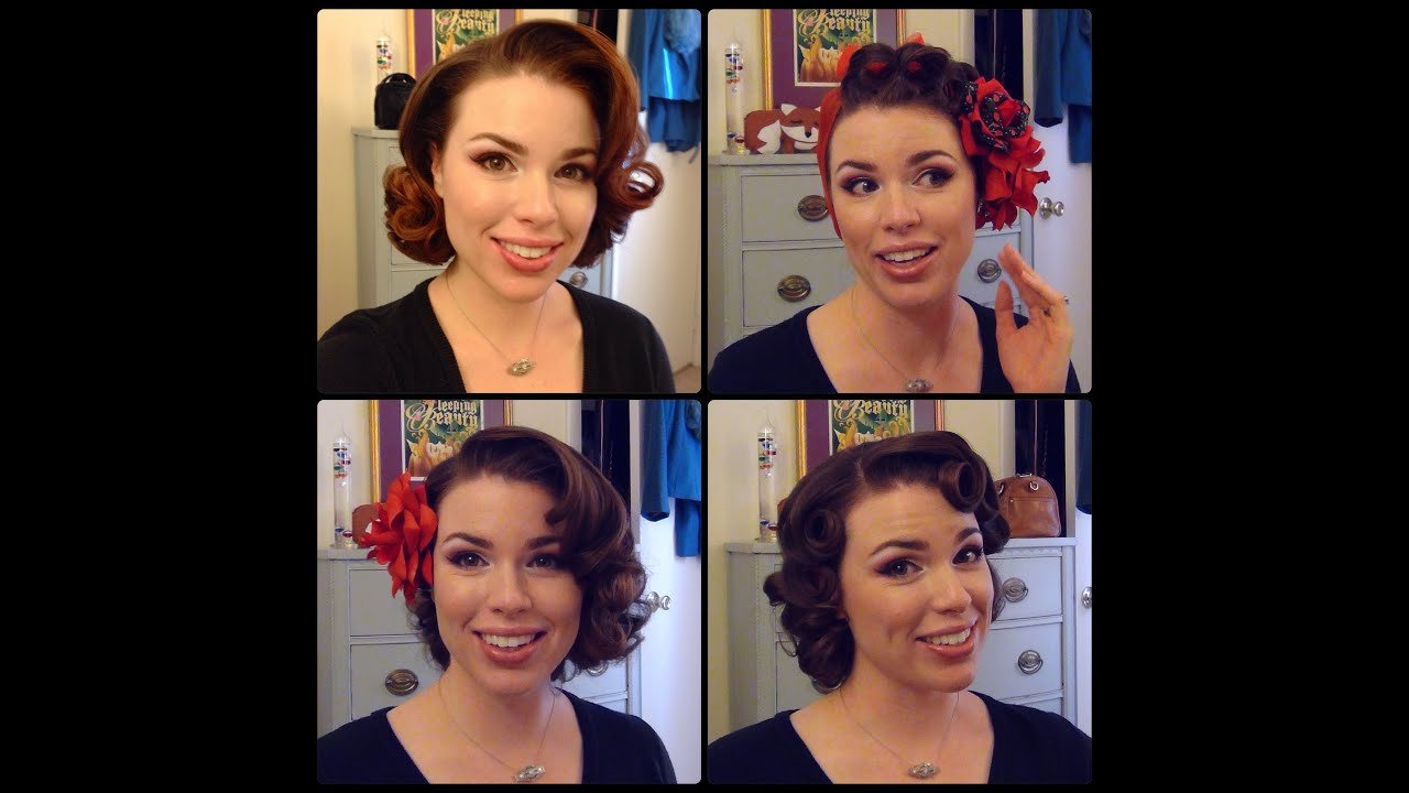 Free Easy 50 S Pin Curl Styles For Shoulder Length Hair Youtube Wallpaper
