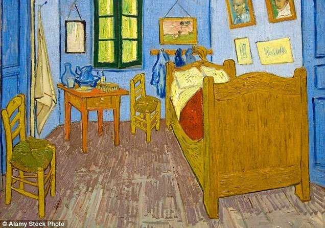 Best Room Identical To Vincent Van Gogh S Bedroom In Arles Is Listed On Airbnb Daily Mail Online With Pictures