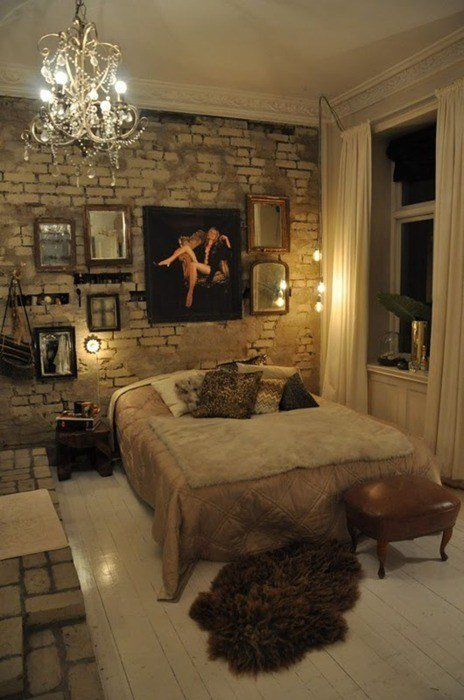 Best 31 Idea To Decorate A Brick Wall Behind Your Bed Shelterness With Pictures