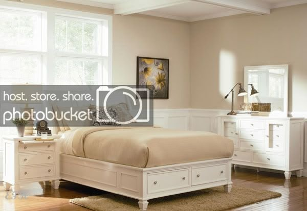 Best New 4Pc Sandy Beach White Wood Bedroom Set W Drawers Ebay With Pictures