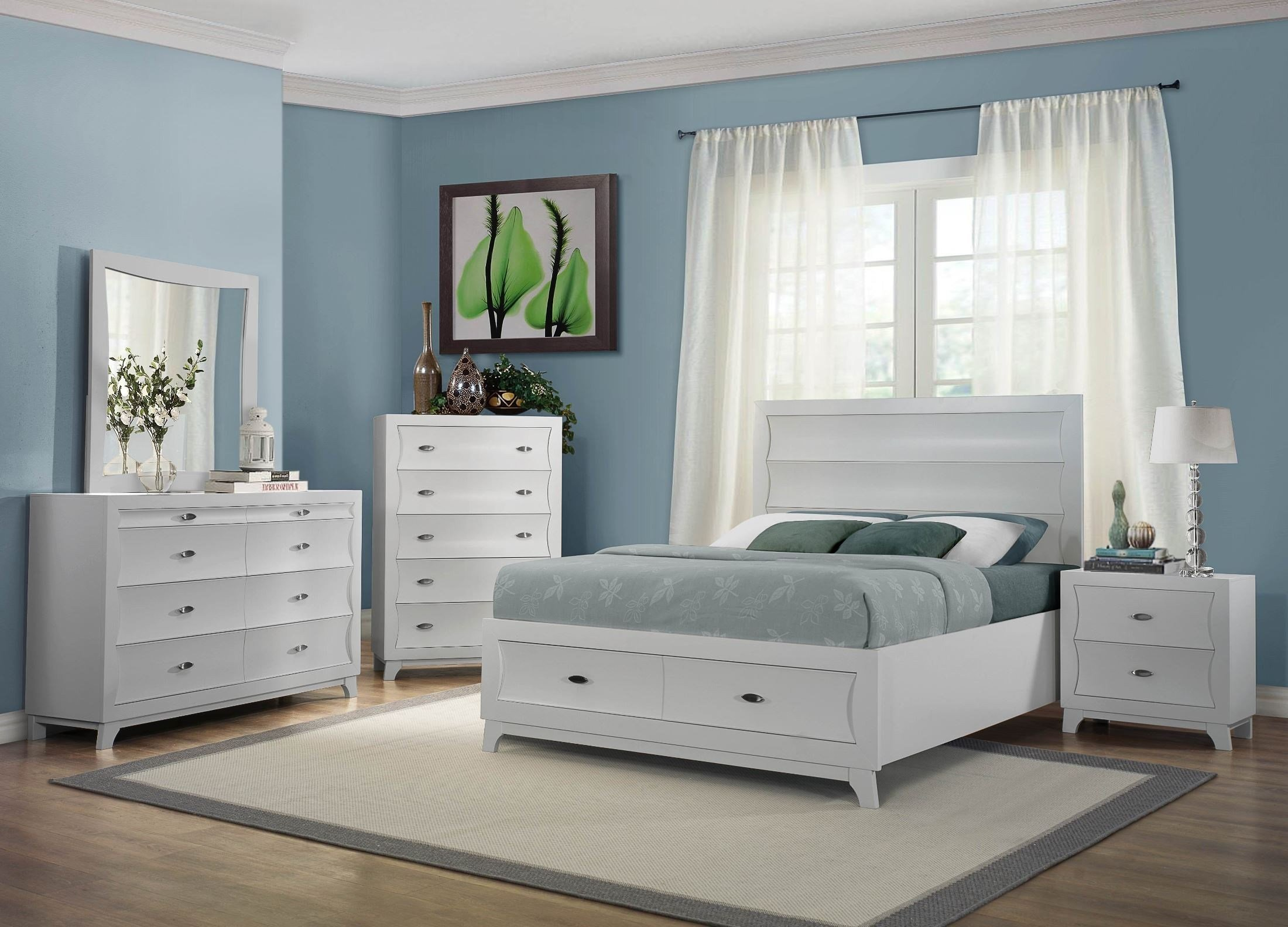 Best Zandra White Platform Storage Bedroom Set From Homelegance With Pictures