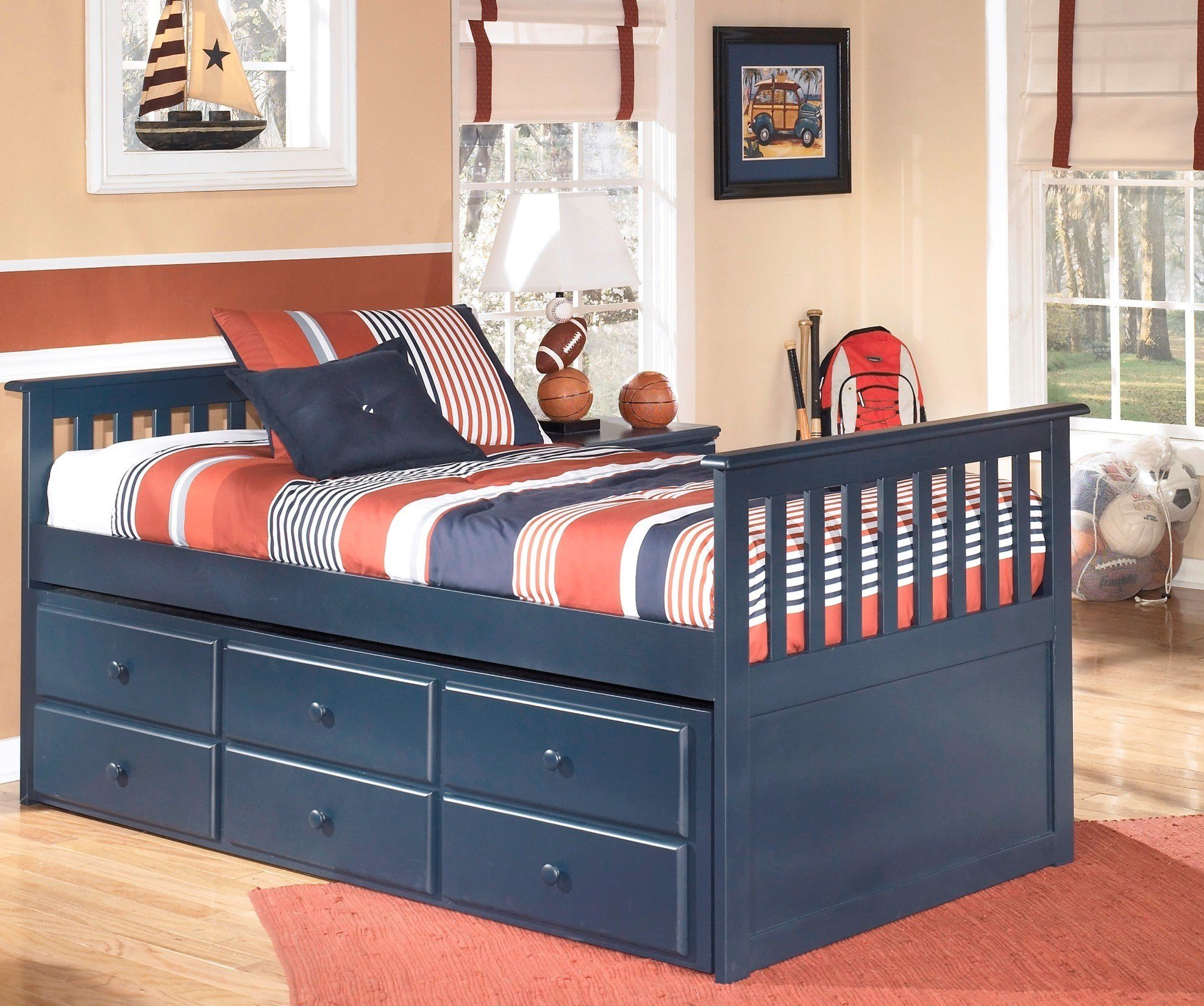 Best Leo Youth Trundle Storage Bedroom Set From Ashley B103 With Pictures