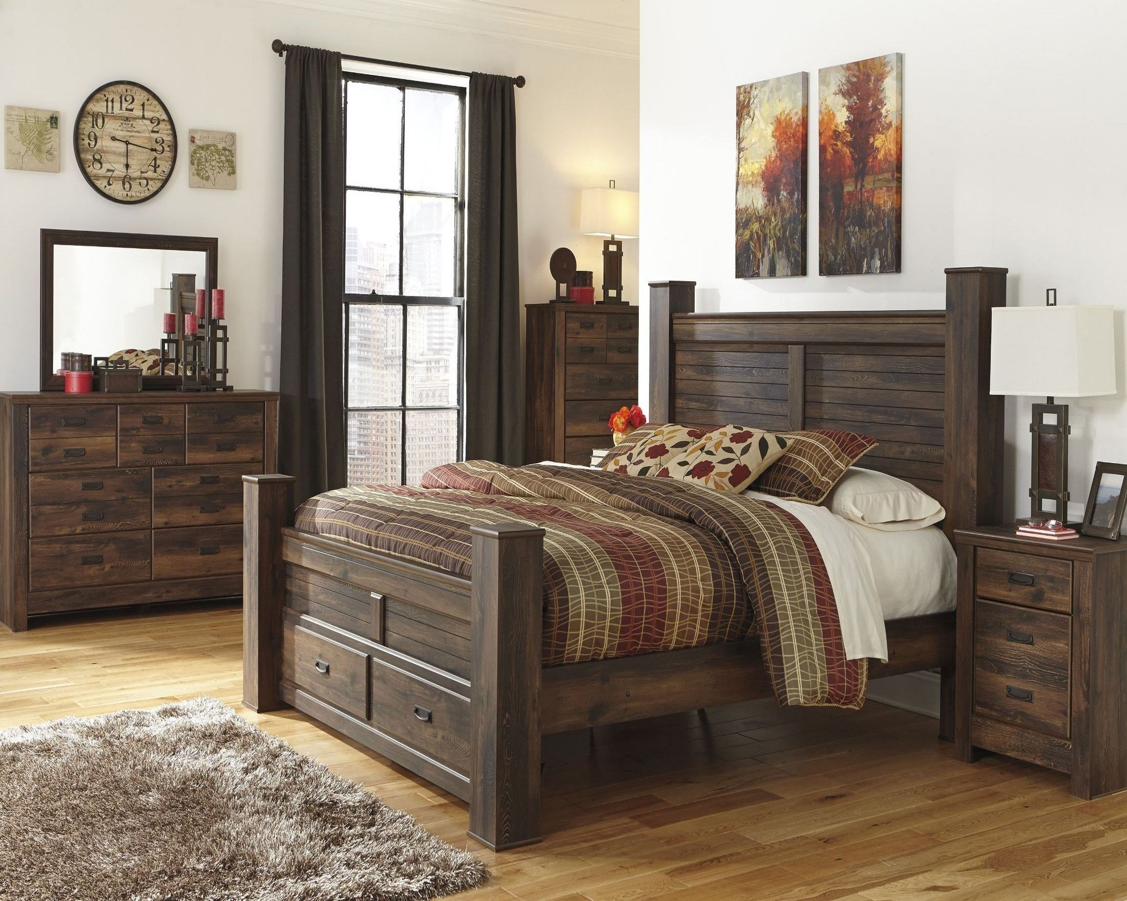 Best Quinden Poster Storage Bedroom Set From Ashley B246 61 With Pictures