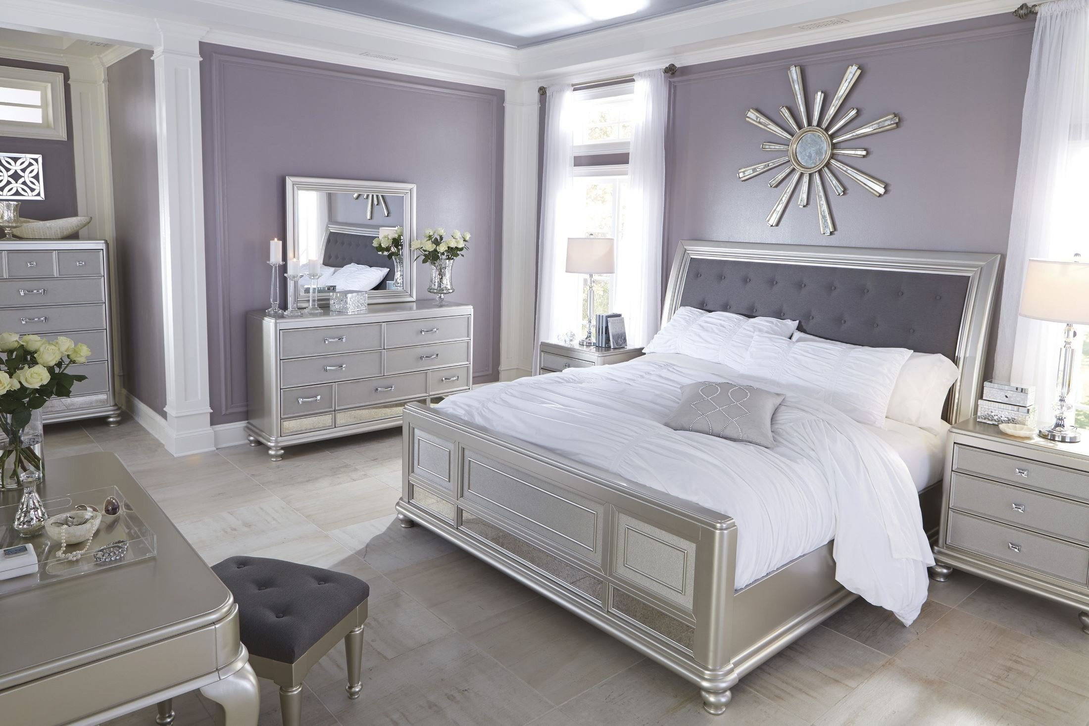 Best Coralayne Silver Bedroom Set B650 157 54 96 Ashley Furniture With Pictures