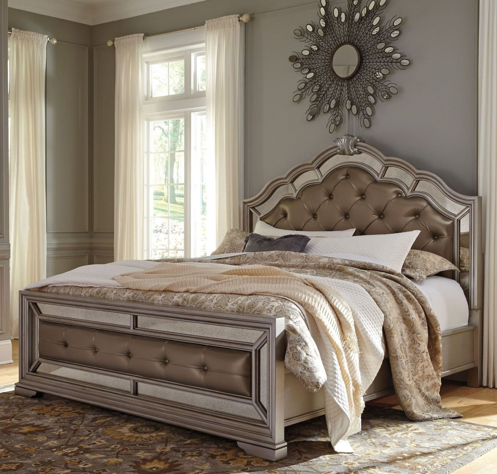 Best Birlanny Silver Upholstered Panel Bedroom Set B720 57 54 With Pictures