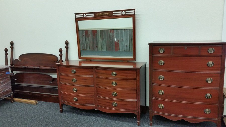 Best Antique Mahogany Dixie Furniture Bedroom Set My Antique With Pictures