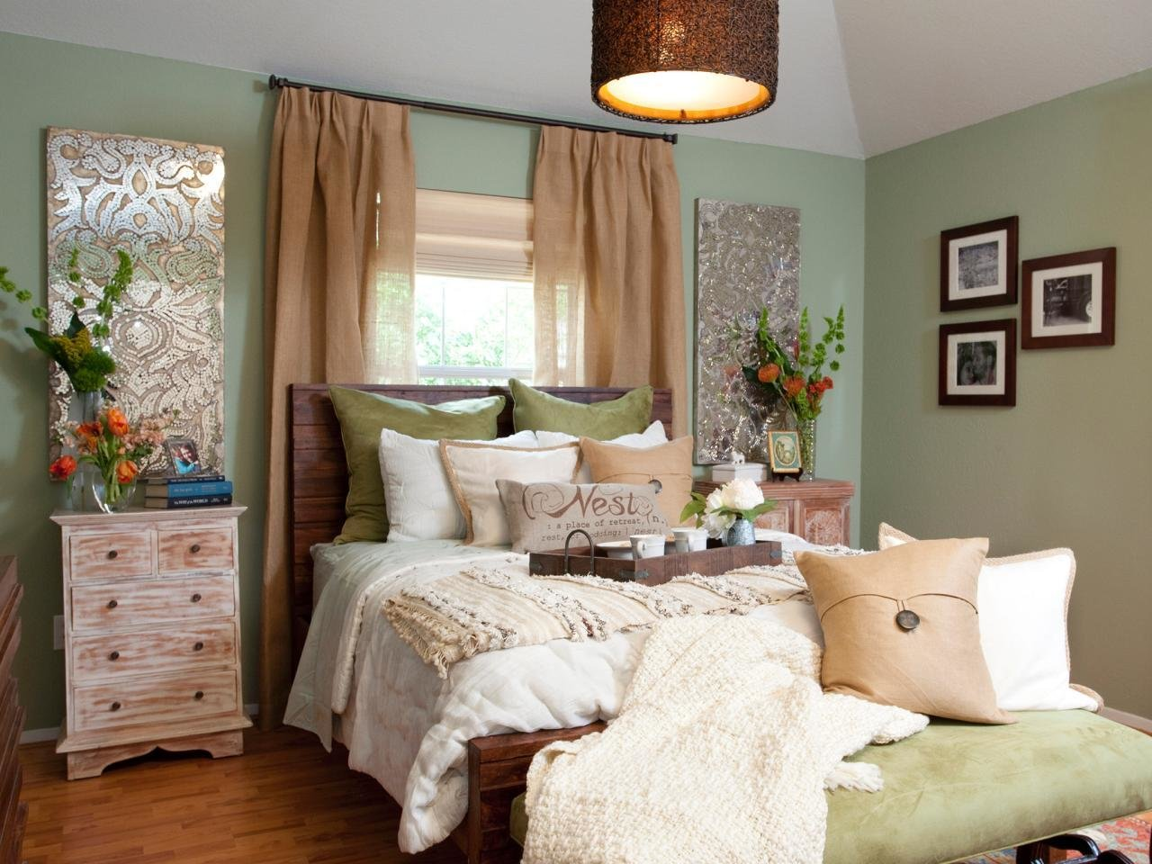 Best Bedroom With Mint Green Walls Hgtv With Pictures