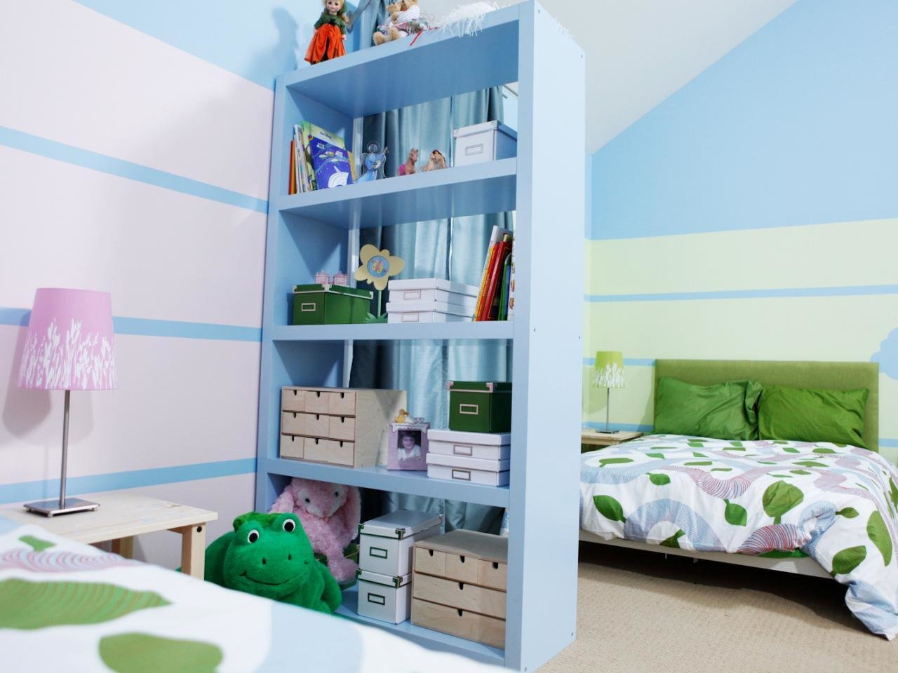 Best How To Divide A Shared Kids Room Hgtv With Pictures