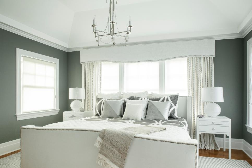 Best Chic Gray And White Master Bedroom With Custom Details With Pictures