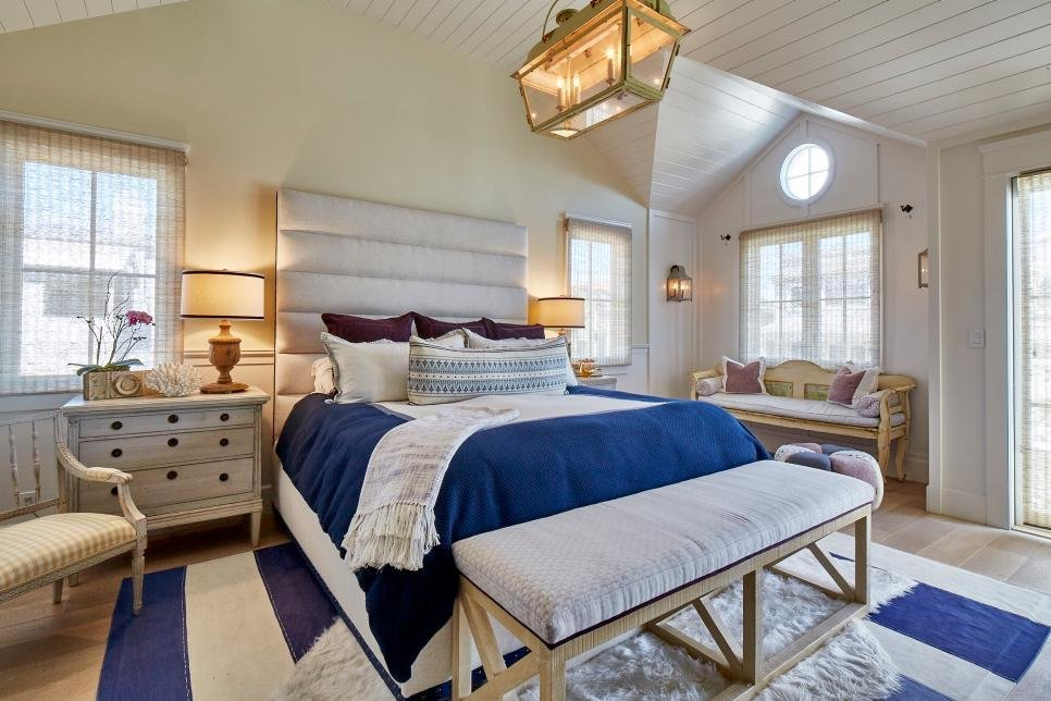 Best Soothing Nautical Hues In Master Bedroom Hgtv Faces Of With Pictures