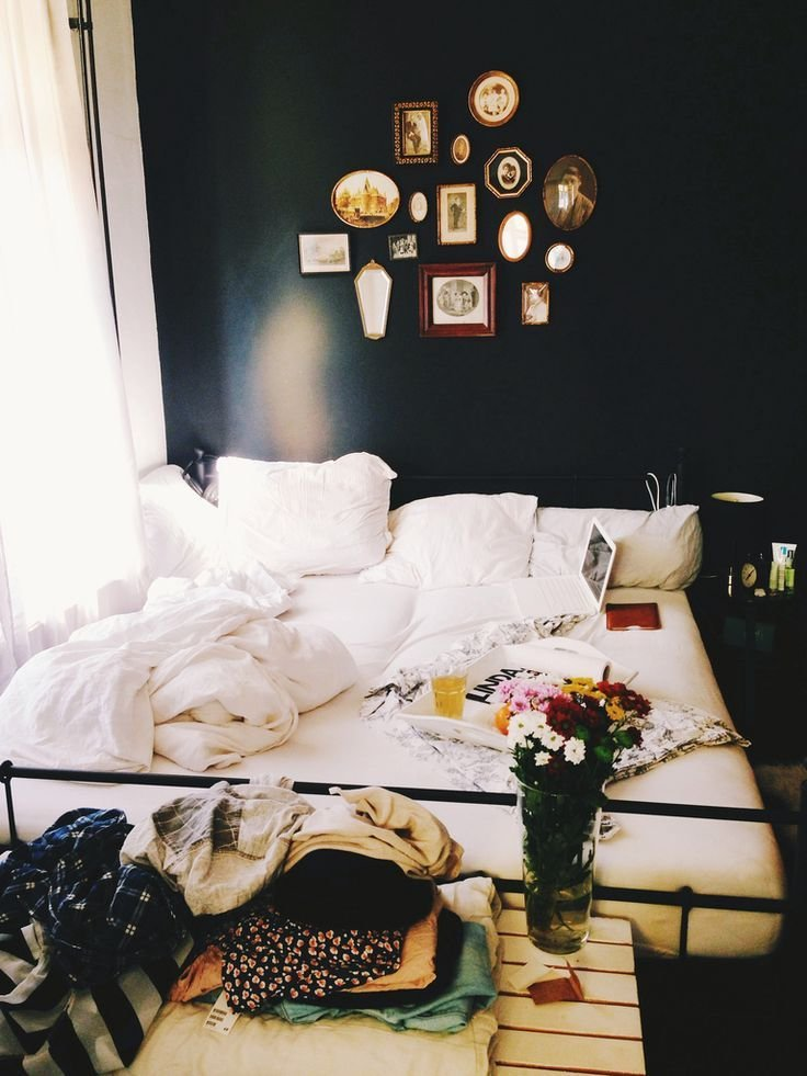 Best Messy Bedroom With Dark Walls Homedesignboard With Pictures