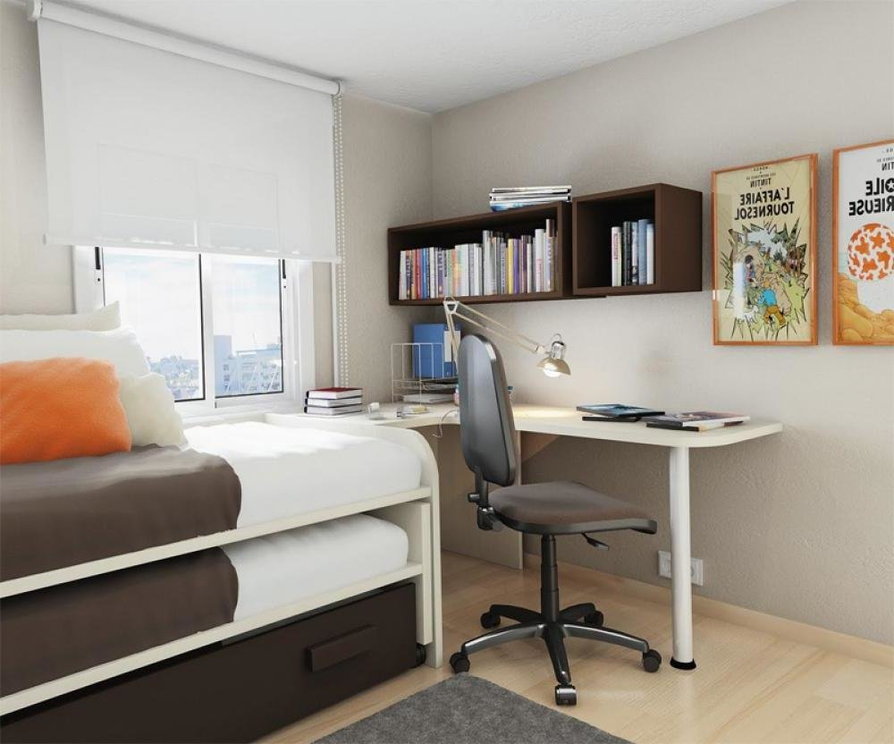 Best Simple Small Bedroom Desks Homesfeed With Pictures