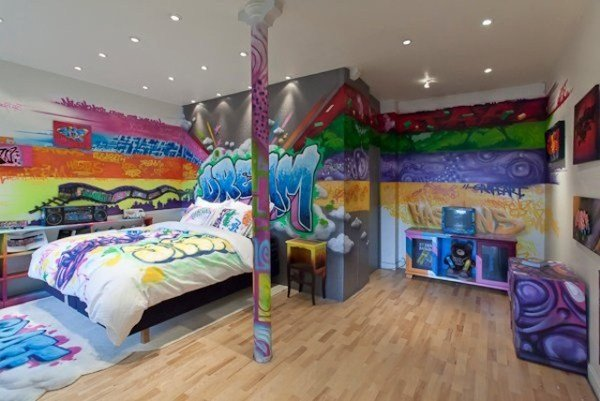 Best 25 Cool Graffiti Wall Interior Ideas House Design And Decor With Pictures