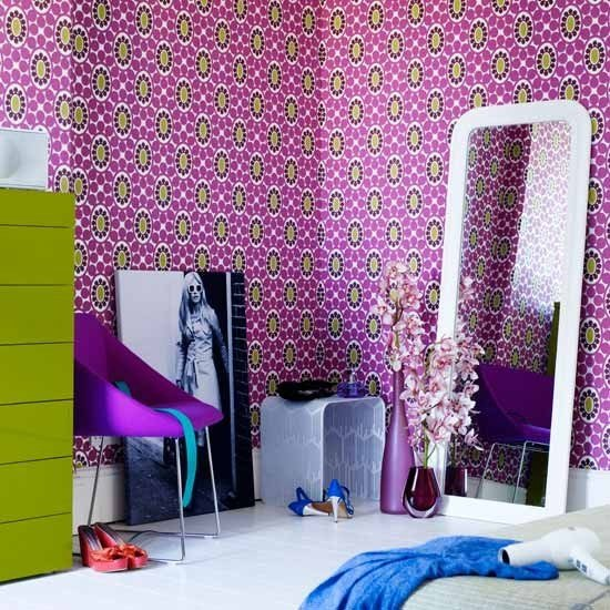 Best Patterned Wallpaper Teenage Girls Bedroom Ideas Housetohome Co Uk With Pictures