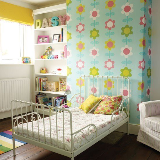 Best Modern Floral Girl S Bedroom Childrens Room With Pictures