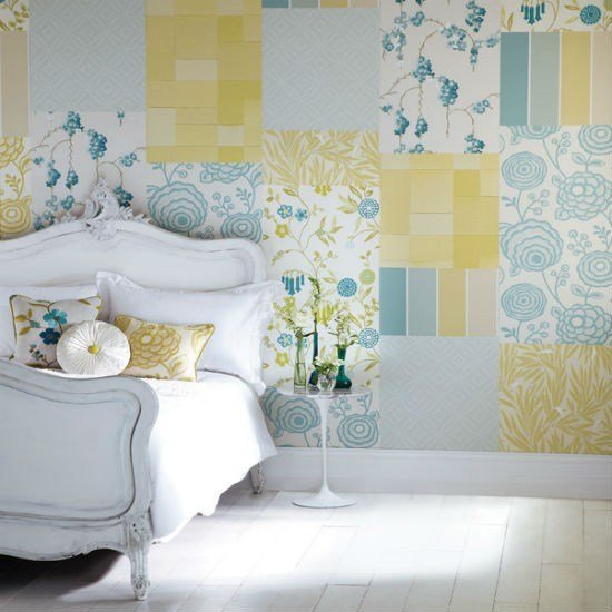 Best Create A Patchwork Feature Wall Bedroom Wallpaper Ideas With Pictures