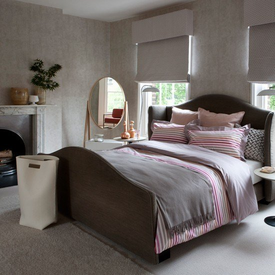 Best Pink And Grey Bedroom Decorating Ideas Traditional With Pictures
