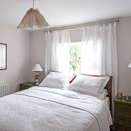 Best White Bedroom With Sheer Curtains Decorating Housetohome Co Uk With Pictures