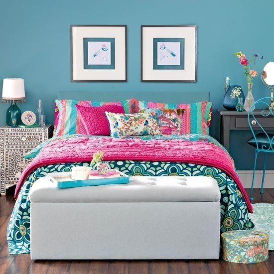 Best Exotic Teal Blue Bedroom Traditional Bedroom Design With Pictures