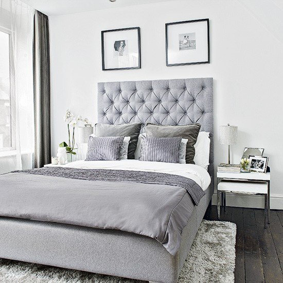 Best Modern Bedroom With Grey Upholstered Bed And Soft With Pictures