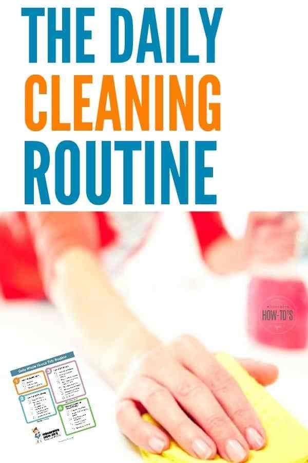 Best Daily Cleaning Routine Printable • Housewife How To S® With Pictures