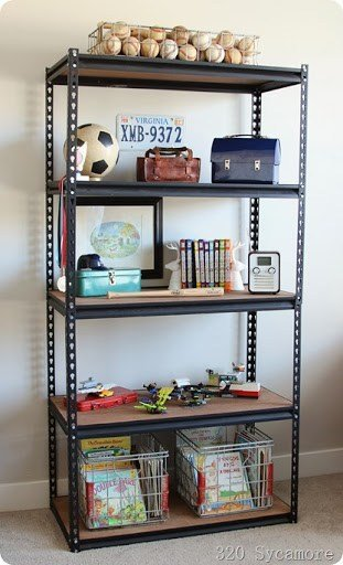 Best Industrial Shelf For Boys' Room 320 Sycamore With Pictures