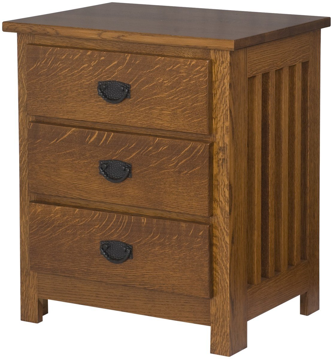 Best Mission Nightstand With Shelves Solid Wood Nightstand In With Pictures