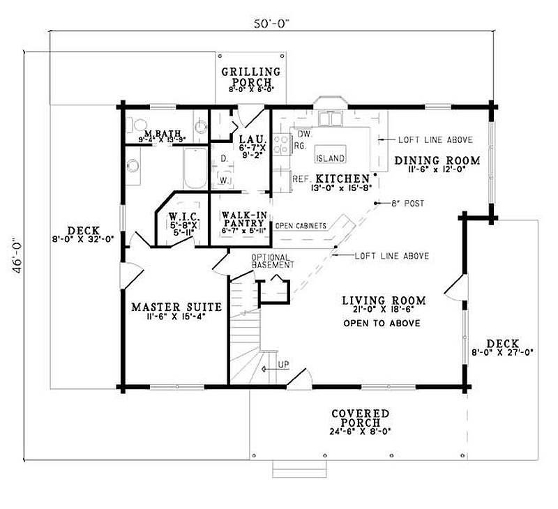 Best Plan 110 00928 2 Bedroom 2 Bath Log Home Plan With Pictures