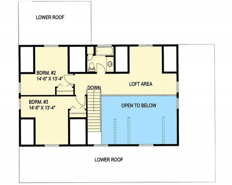 Best Plan 35409Gh 4 Bedroom 3 Bath Log Home Plan With Pictures