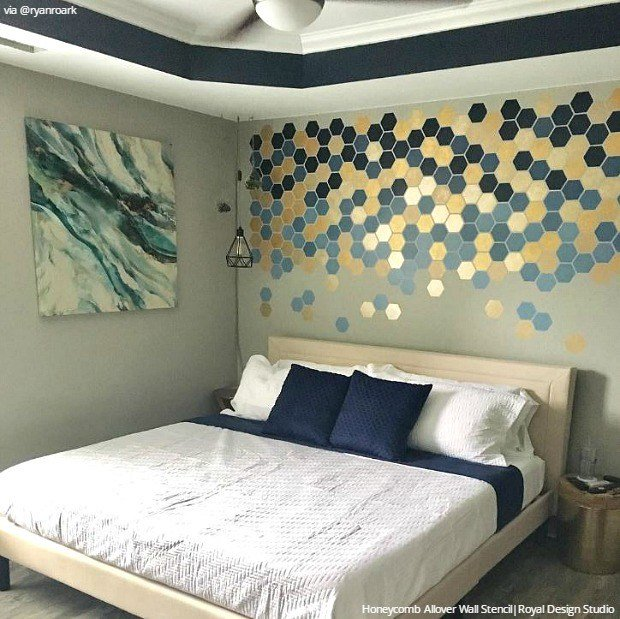 Best Break Free With Deconstructed Stenciling Paint Pattern With Pictures