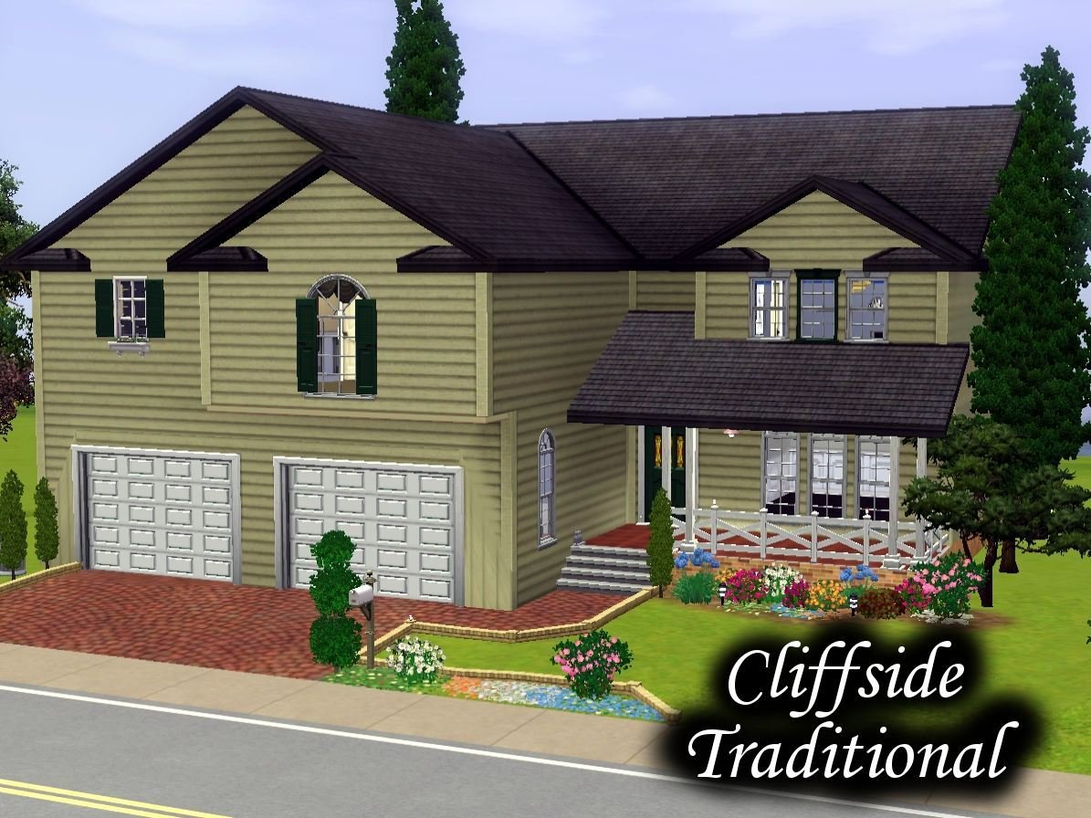 Best Mod The Sims Cliff Side Traditional 4 Bedrooms 3 Bathrooms With Pictures
