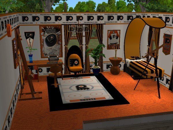 Best Mod The Sims Philadelphia Flyers Bedroom For Flyersgirl16 With Pictures