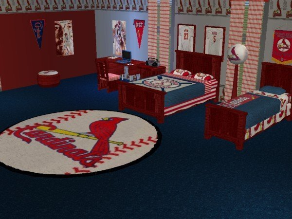 Best Mod The Sims St Louis Cardinals Baseball Bedroom Requested With Pictures