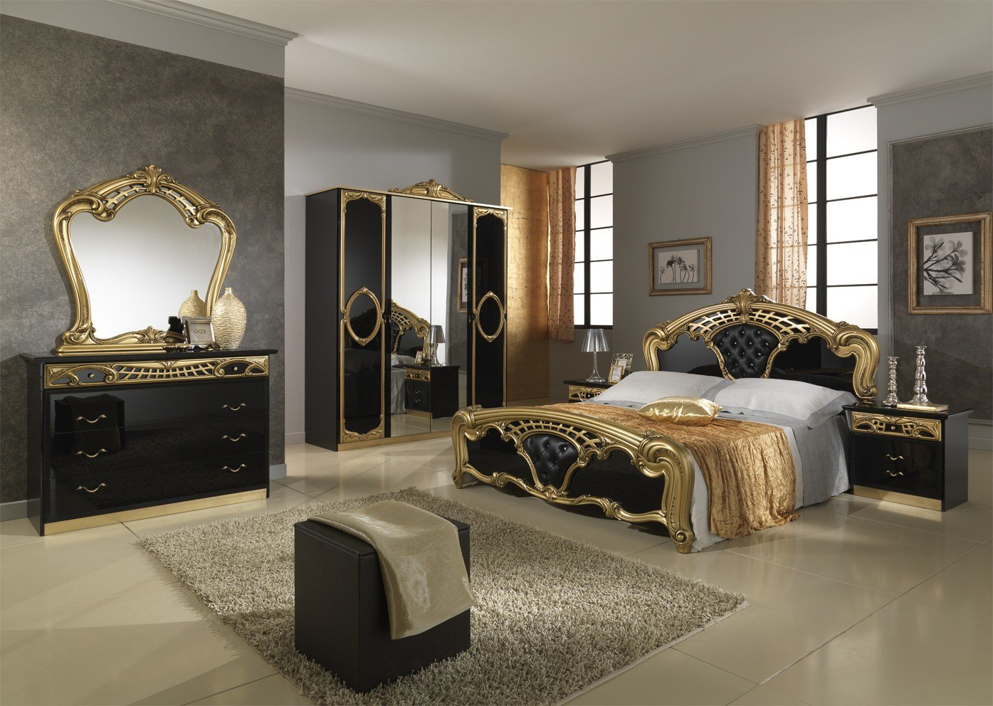 Best Wonderful Black And Gold Bedroom Ideas Atzine Com With Pictures