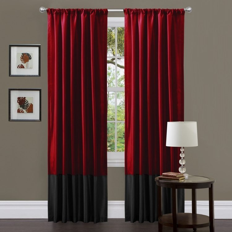 Best Stunning Black And Red Curtains For Modern Touch Atzine Com With Pictures