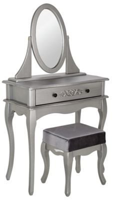 Best Buy Collection Dressing Table Stool Mirror Silver At Argos Co Uk Your Online Shop For With Pictures