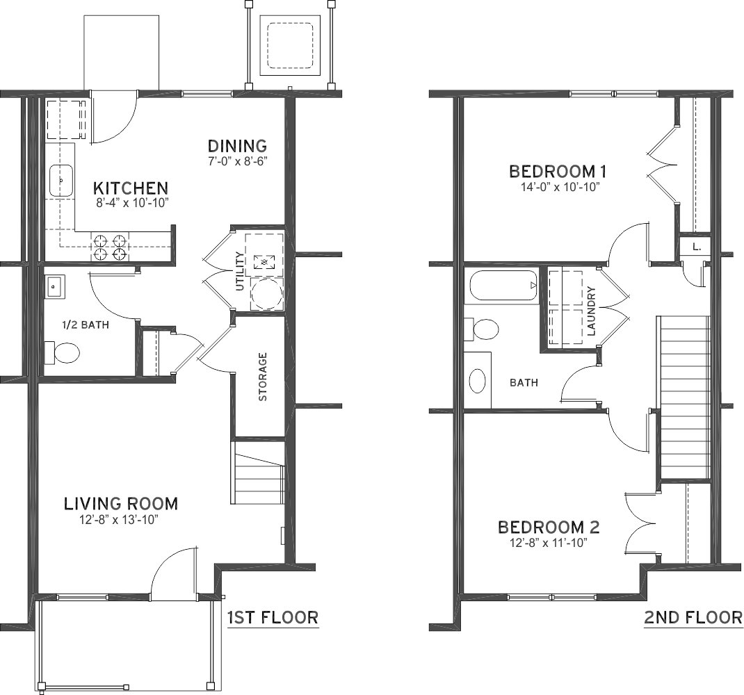 Best 2 Bedroom 1 1 2 Bath Townhome Ashland Place With Pictures