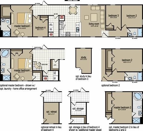 Best 4 Bedroom 2 Bath Single Wide Mobile Home Floor Plans With Pictures
