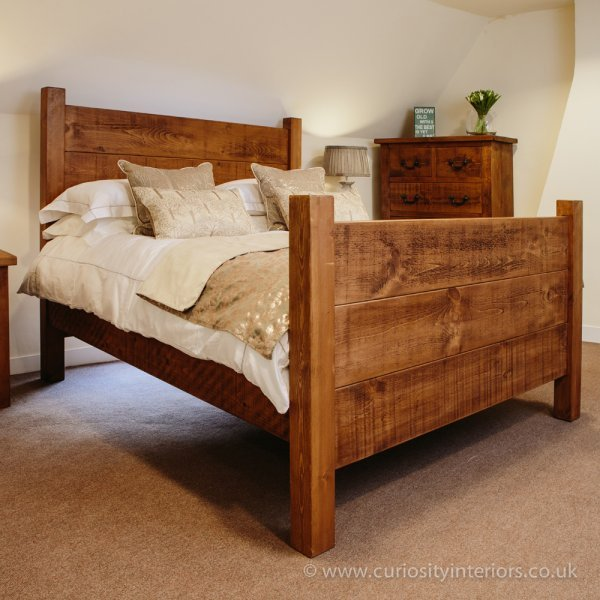 Best Buy Rustic Plank Wood Bed Uk Handmade Bedroom Furniture With Pictures