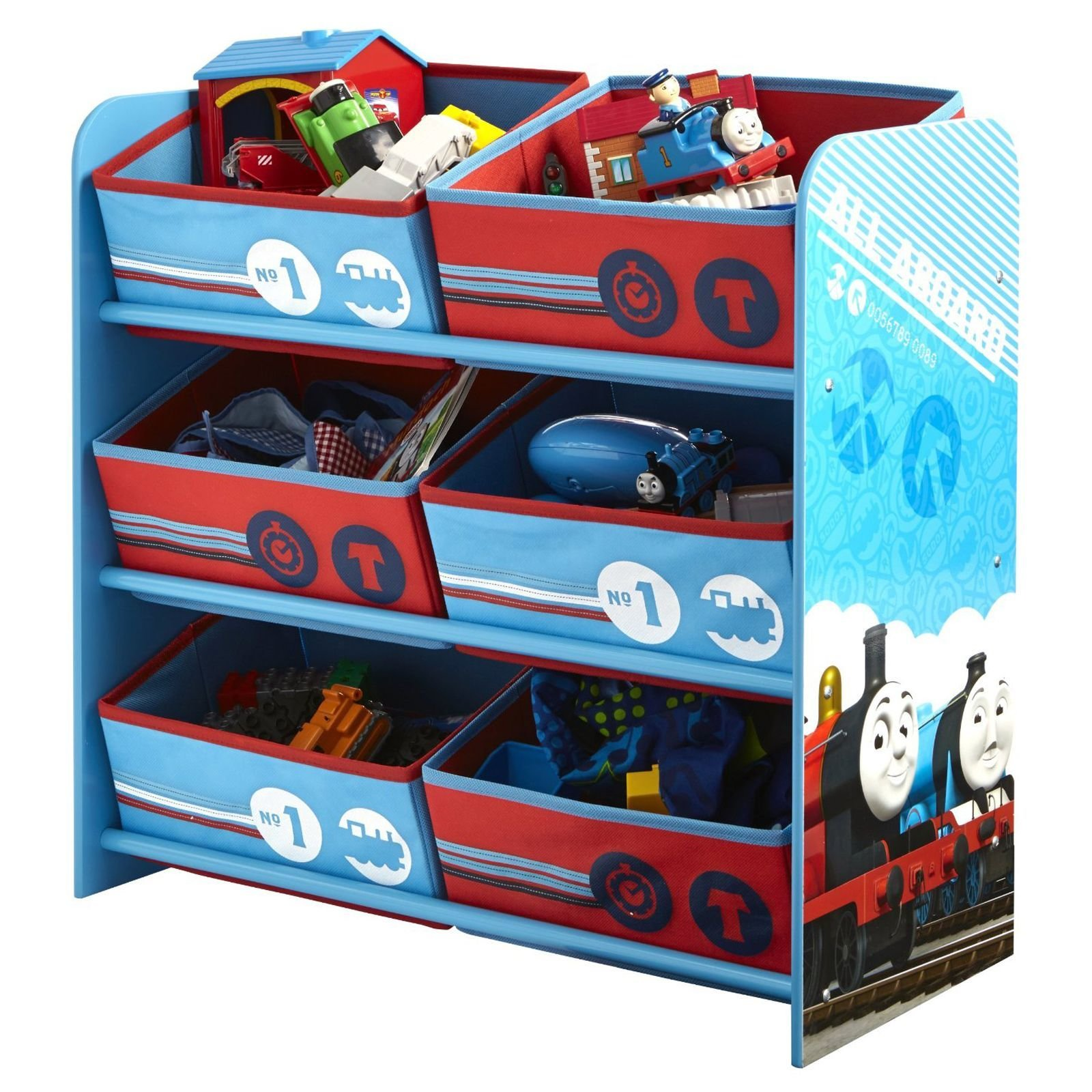 Best Thomas Friends 6 Bin Storage Bedroom Furniture Tank With Pictures