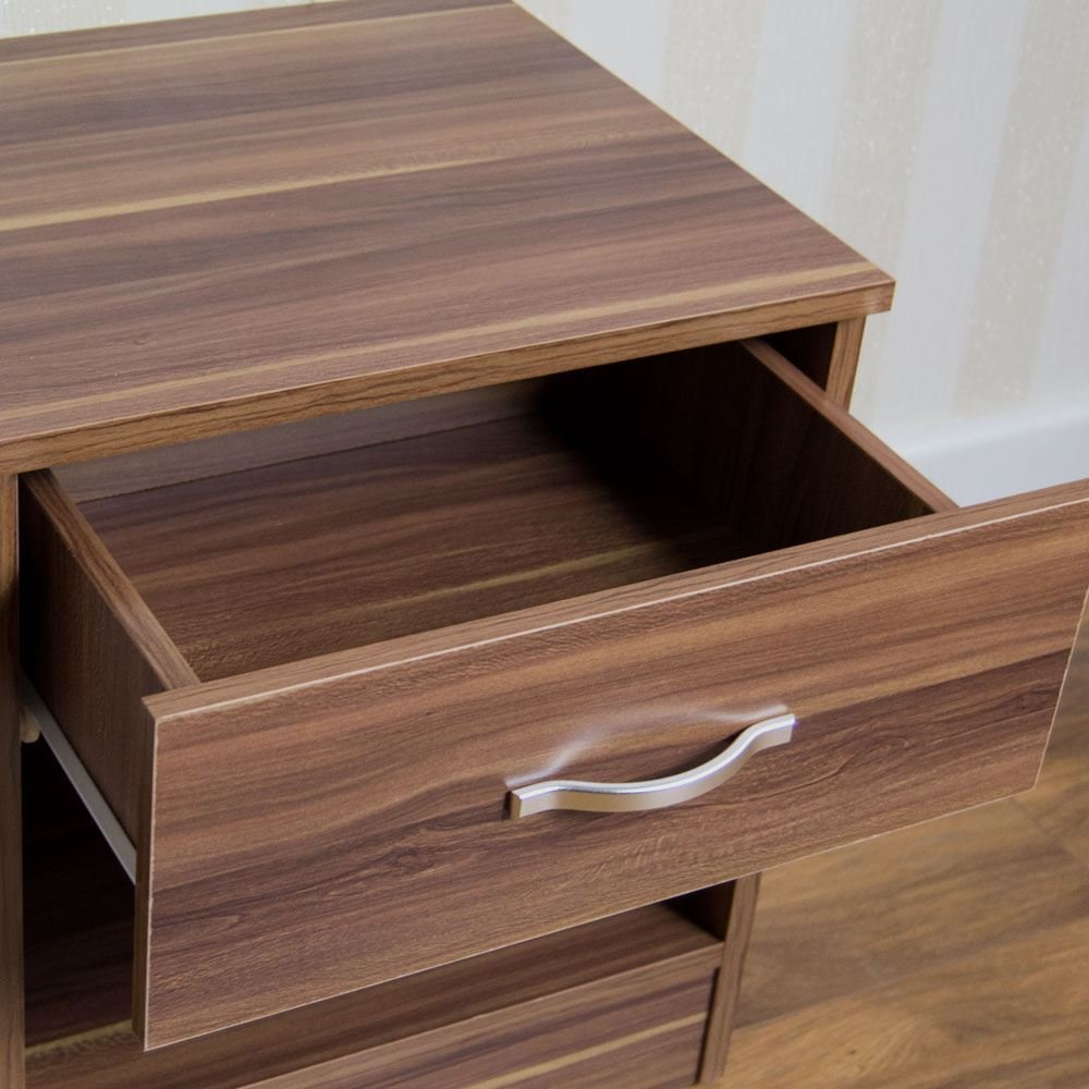 Best Riano Bedside Cabinet 1 Drawer Metal Handles Runners Bedroom Furniture Ebay With Pictures