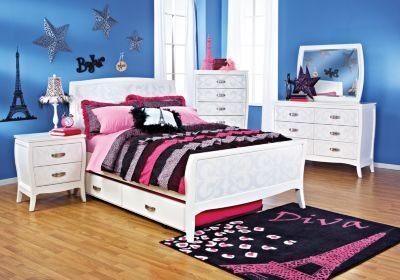 Best Belle Noir White 5 Pc Full Bedroom Bedroom Sets With Pictures