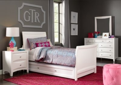 Best Ivy League White 6 Pc Full Sleigh Bedroom Bedroom Sets Colors With Pictures