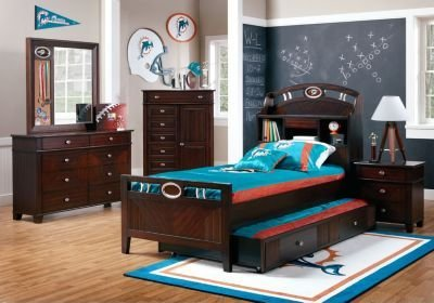 Best Nfl Playbook 6 Pc Full Bookcase Bedroom Full Bedroom With Pictures