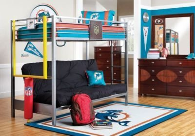 Best Nfl Redzone 6 Pc Twin Loft Bedroom Bedroom Sets Dark Wood With Pictures