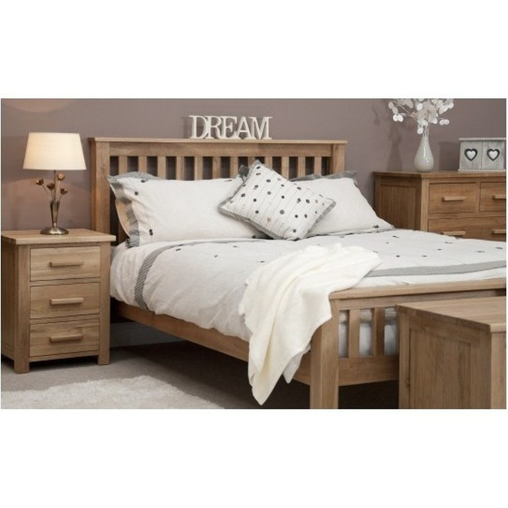 Best Boston 4 6 Double Bed Solid Oak Bedroom Furniture Ebay With Pictures
