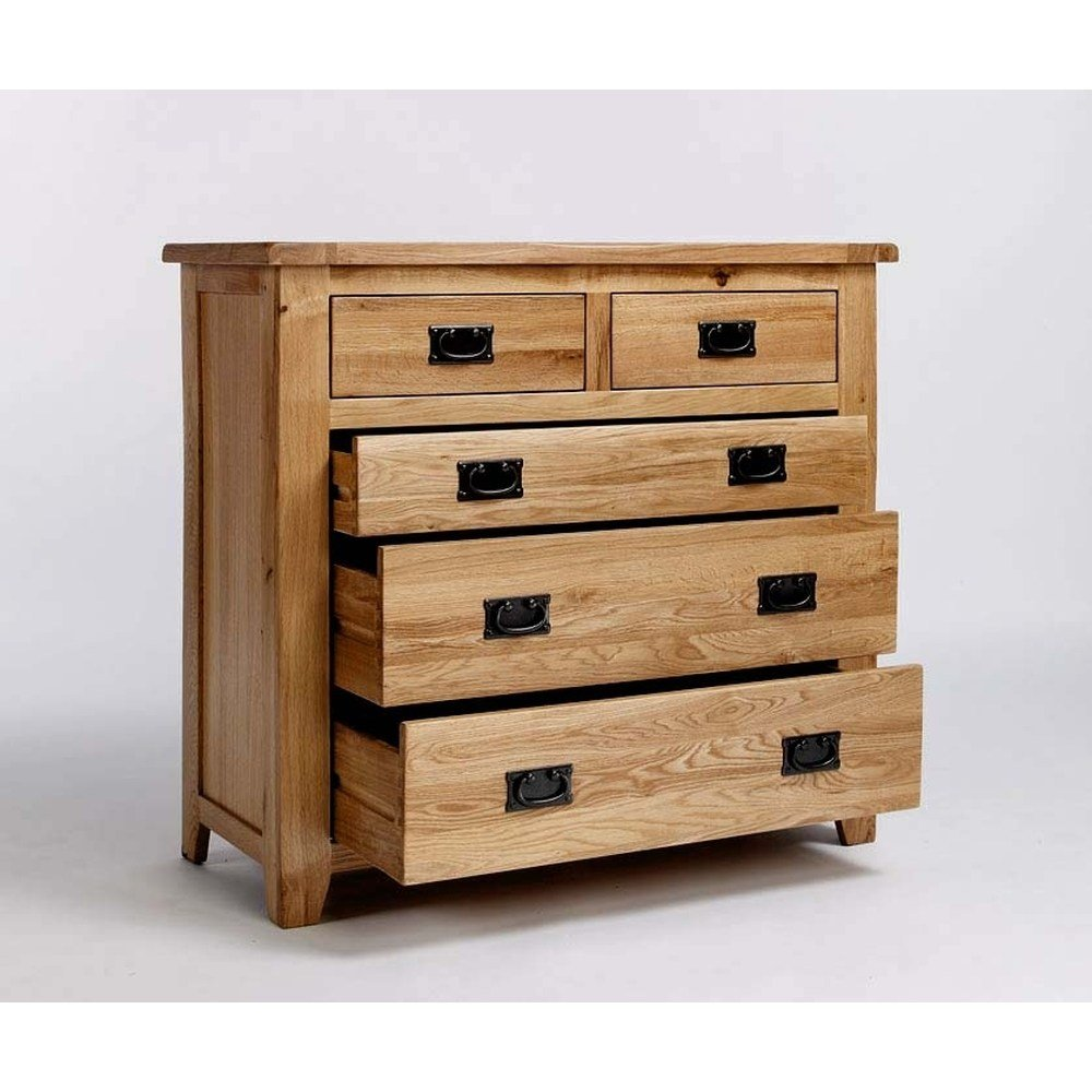 Best Westbury Solid Oak Bedroom Furniture 2 Over 3 Chest Of Drawers With Pictures